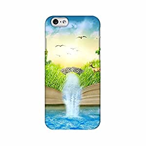 ArtzFolio Magic Opened Book Covered With Grass Trees And Waterfall : Apple iPhone 6 Matte Polycarbonate Original Branded Mobile Cell Phone Designer Hard Shockproof Protective Back Case Cover Protector