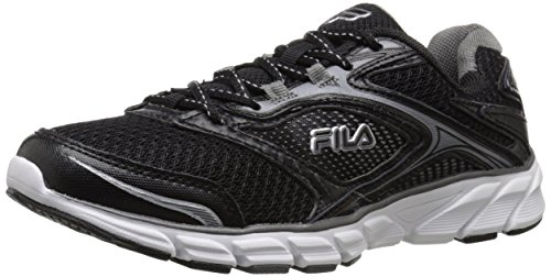 Fila Men's Stir Up Running Shoe, Black/Dark Silver/White, 9 M US