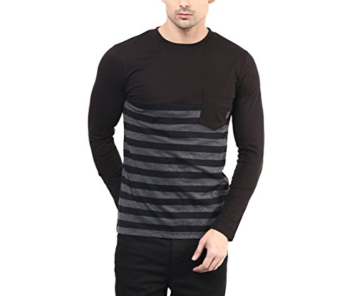 Hypernation-Black-and-Grey-Color-Stripped-T-Shirt-for-Men
