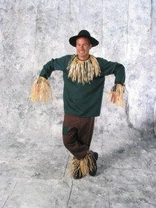 Wizard Of Oz Deluxe Scarecrow Adult Halloween Costume Size Medium 40-44