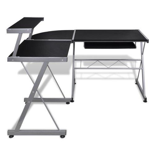 Tavolo scrivania per computer postazione di lavoro finitura nera
