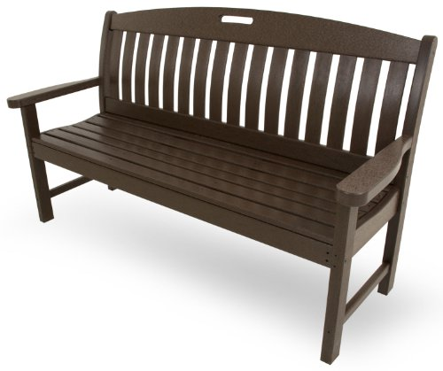 POLYWOOD NB60MA Nautical 60″ Bench, Mahogany