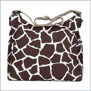 OiOi Designer Giraffe Print Hobo Diaper Bag