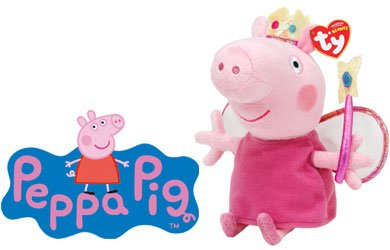 Peppa Pig Princess Peppa Beanie Baby, plush toys (Approximately 7