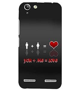 PrintDhaba LOVE D-6527 Back Case Cover for LENOVO VIBE K5 (Multi-Coloured)
