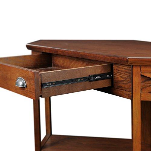 Leick Corner Computer And Writing Desk Oak Finish