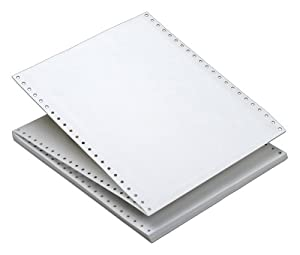 TOPS Continuous Computer Paper, Plain White, 1 Part, Removable 0.5 Inch Margins, 20 Lb. Stock, 9.5 x 11 Inches, 2700 Sheets (5509)