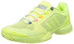 adidas by Stella McCartney Barricade Ladies Tennis Shoe, Yellow, US8