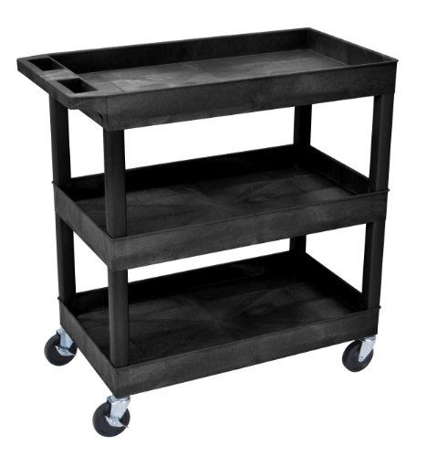 Luxor-EC111-3-Shelf-High-Capacity-Tub-Cart