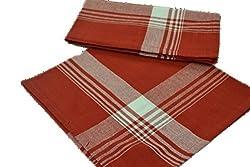 Red Plaid Cotton Napkins - Set of 4