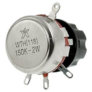 150K Ohm 2W Watt Electrical Rotary Wirewound Pots Potentiometer w Knob