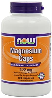 NOW Foods Magnesium Capsules, 400mg (Pack of 3)