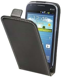 Muvit MUSLI0326 Etui à clapet Noir + Film de Protection d'écran pour Samsung Galaxy Core i8260