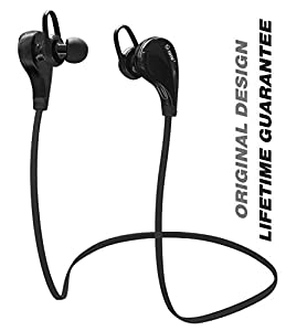 Bluetooth Headphones, TOTU Wireless Bluetooth Headphones Noise Cancelling Headphones w/ Microphone [ Gym / Running / Exercise / Sports / Sweatproof ] Wireless Bluetooth Earbuds Headset Earphones for Apple watch iPhone 6, 6 Plus, 5 5c 5s 4s,iPad Air, Samsung Galaxy S6,S5,S4,S3 Note 4 3, HTC M9 M8 M7,LG Flex 2 G3 G2, and Other Bluetooth Android IOS Smart Cell phones/Devices