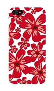 iPhone5 ケース 『Full Flower red』 ハードケース アイフォン5 カバー SoftBank au スマートフォン スマフォケース 携帯カバー iPhone5 専用 TL-STAR
