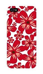 iPhone5 ケース 『Full Flower red』 アイフォン5 カバー SoftBank au スマートフォン スマフォケース 携帯カバー iPhone5 専用 TL-STAR