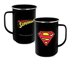 ICUP DC Superman Insignia Enamelware Mug, 20 oz