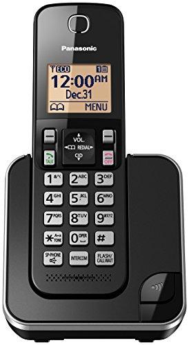 Panasonic KX-TGC350B Expandable Cordless Phone with Amber Backlit Display - 1 Handset, Black (Panasonic Phones 1 Handset compare prices)