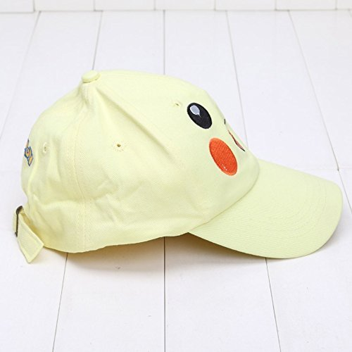 [PJ's Toybox Pikachu Costume Cosplay Hat Visor Cap Adjustable Bone Snapback Cap Sport Hat Cartoon Pikachu Sun] (Old Ash Ketchum Costume)