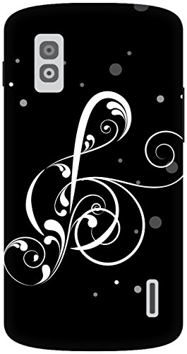 The Racoon Lean printed designer hard back mobile phone case cover for LG Nexus 4. (Black Musi)  available at amazon for Rs.99