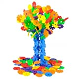 Souked De alta calidad de 128 piezas multicolores de copo de nieve Edificio Niños Educativo bebé de juguete Puzzle