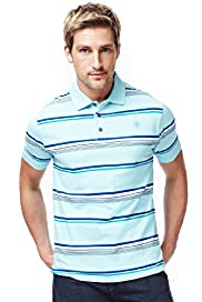 Blue Harbour Pure Cotton Bright Striped Polo Shirt