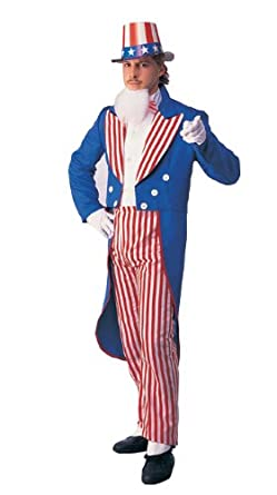 Rubie's Costume Deluxe Adult Uncle Sam Costume, Blue, Large