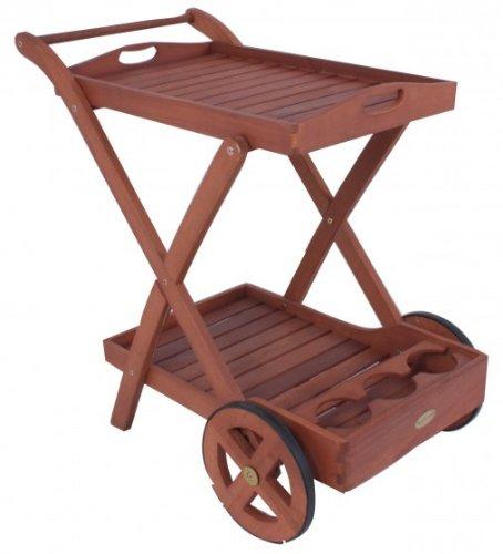Teewagen fahrbar Eukalyptus FSC-Holz geölt
