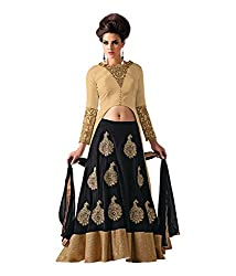 jaybhavanifashion's Women's Silk Lehenga Choli (Arihant mania black_Black)