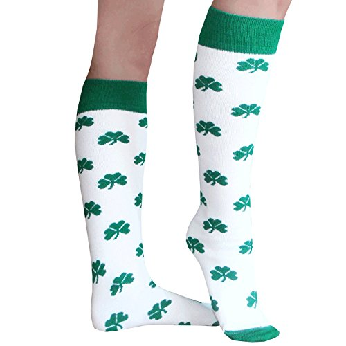 Chrissy's Socks Women's Shamrock Knee High Socks