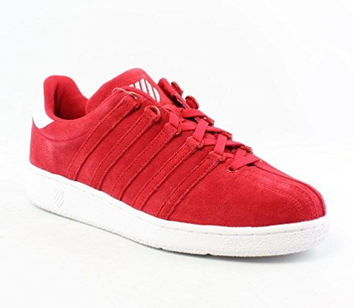 K-Swiss Men's Classic VN Suede  Shoe, Red/White, 13 M US