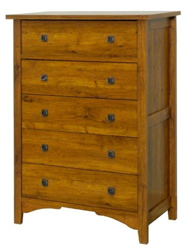 Child Craft by Sauder Rose Valley Ready to Assemble 5 Drawer Chest, Abby Oak