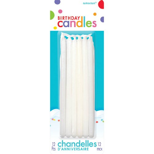 "Amscan Tapers Birthday Celebration Candle, 5"", White"