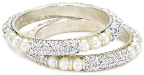 Chamak by priya kakkar White Base Metal Bangle Bracelet