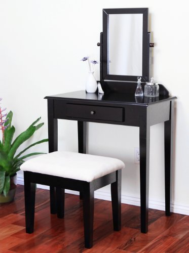 finish wood pc vanity bedroom make up bench on sale now bedroom