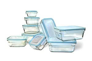 New Snaplock Lid: Tempered Glasslock Storage Containers 18pc set~Microwave & Oven Safe