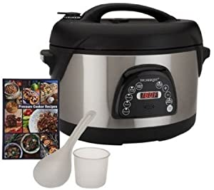 Technique 6.5 Qt Oval Voice Guided Pressure Cooker W/recipe Book (blue)