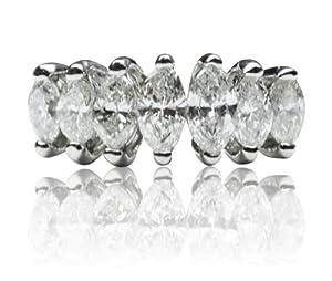 1.35 Ct Diamond 3.9g 14k White Gold Engagement Ring