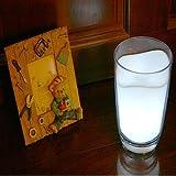 HDE Milk Glass Cup LED Night Light Lamp