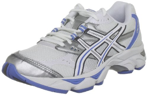 ASICS Women's Gel Radience White/Lavender/Lightning Trainer T1F5N 0124 8 UK