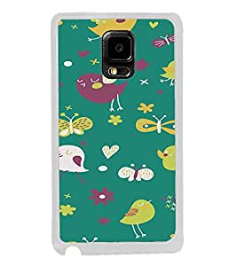 ifasho Animated Pattern birds and butterfly Back Case Cover for Samsung Galaxy Note 4 Edge