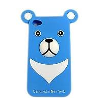 【携帯電話ケース】iPhone4ケースくまちゃんiPhone4シリコンカバー (水色)