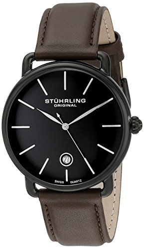 stuhrling-original-symphony-ascot-agent-mens-quartz-watch-with-black-dial-analogue-display-and-brown