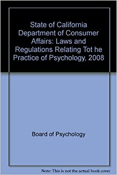 State of california department of consumer affairs laws - Office of the consumer protection board ...