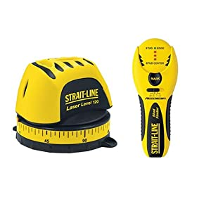 Strait-Line 6045704 2-Tool Combo Kit - 6041101 Laser level 120 & 6041501 Stud Finder 150