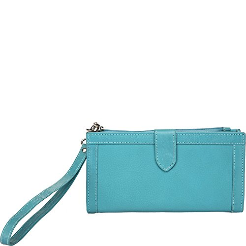 ann-shelby-evonne-ladies-leather-wallet-wristlet-turquoise