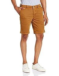 Basics Men's Cotton Shorts (8907054578863_14BSS31484_32_Mid Brown)
