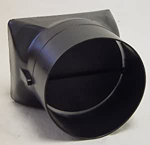 Kaze Appliance 4 Inch Round Duct With Backdraft Damper