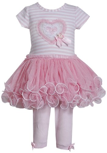 Bonnie Baby Baby-Girls Heart Tutu Dress & Leggings 6-9M (R01414) front-944239