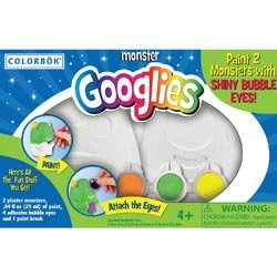Colorbok Plaster And Clay Figurine Kits Monster Googlies; 3 Items/Order